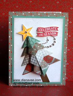 Diana's Place I love the dimension the folded paper tree creates! Check out Diana's blog for a tutorial on how to do the folds!