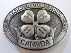 Pewter Belt Buckle * 4-H Canada