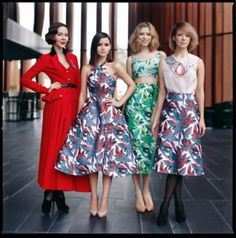 Playing Fashion March 2012Ulyana, Miroslava, Elena and Vika photographed by Ivan Kaydash