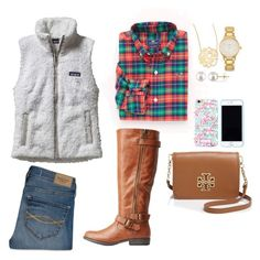 """read d y'all//Mollie Kate"" by prim-and-preppy ❤ liked on Polyvore featuring Patagonia, Abercrombie & Fitch, Vineyard Vines, Bamboo, Jennifer Zeuner, Miadora, Kate Spade, Tory Burch and Lilly Pulitzer"