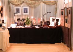 Holly Gage's jewelry show booth Craft Booth Displays, Display Ideas, Booth Ideas, Clay Classes, Soap Display, Metal Clay Jewelry, Precious Metal Clay, Craft Show Ideas, Jewelry Show
