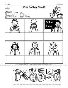 community helpers cut-paste worksheet (8) | Crafts and Worksheets for Preschool,Toddler and Kindergarten