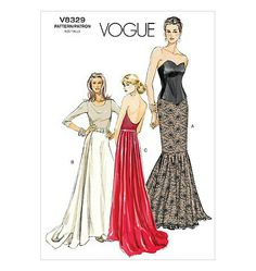 one day i WILL be able to sew this well! Formal Dress Patterns, Wedding Dress Patterns, Dress Making Patterns, Croquis Fashion, Fashion Sketches, Vintage Sewing Patterns, Clothing Patterns, Mermaid Dress Pattern, Vintage Dresses