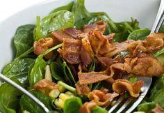 Épinards sautés au bacon et à la moutarde #Recettes