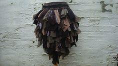 Upcycled Brown Bustle Woman's Clothing Tribal by BabaYagaFashion