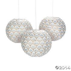 Metallic+Lily+Hanging+Lanterns+-+OrientalTrading.com