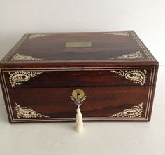 English Victorian Mahogany Writing Box