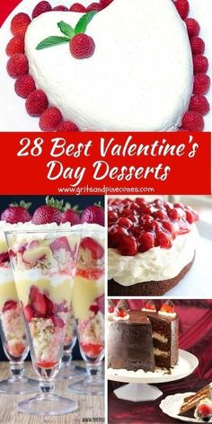 28 of the Best Valentines Day Dessert recipes features easy. 28 of the Best Valentines Day Dessert recipes features easy decadent romantic desserts plus some healthy options including gluten-free paleo low-carb and vegan! via Grits and Pinecones Romantic Desserts, Romantic Meals, Easy Desserts, Delicious Desserts, Dessert Recipes, Romantic Recipes, Dessert Ideas, Wow Recipe, My Best Recipe