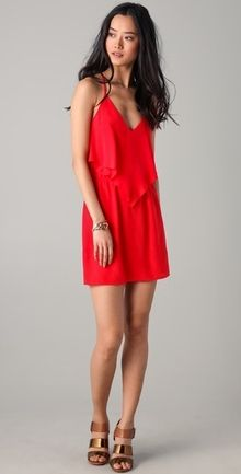 Red handkerchief inspired dress
