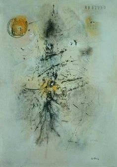 1949 The Stamped Sheet of Paper, (indian ink, wc and gouache on paper) Abstract Landscape, Abstract Art, Art Informel, Tachisme, Banksy, Gouache, Watercolor Tattoo, Art Photography, Sketches