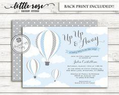 Caliente aire globo bebé ducha invitación por LittleRoseStudio
