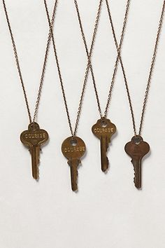 Giving Key Necklace from Anthropologie - $45.00