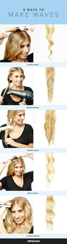 We teamed up with Chrissy Teigen's hairstylist David Lopez to demonstrate five different wave techniques, using three separate tools. So even if you only have a blow dryer and a can of dry shampoo, you can get the best hair of your life.