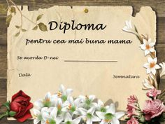 diploma pentru cea mai buna mama | Cu Alex la gradinita 8 Martie, Activities For Kids, Printables, Mai, Easter, Children, Alphabet, Reading Comprehension, Lyrics