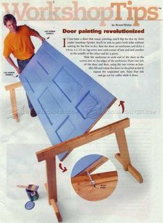 #1568 Door Painting Jig - Door Construction Techniques Finishing and Decoration Tips and Techniques