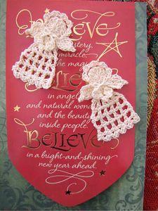 Tiny Chritmas Angel :: Free #Crochet Angel Patterns