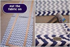 DIY: How to Make a Chevron Room Divider or Dressing Screen - Home Professional Decoration Small Room Divider, Metal Room Divider, Bamboo Room Divider, Diy Room Divider, Room Divider Screen, Divider Ideas, Divider Design, Room Screen, Fabric Room Dividers