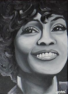 Whitney Houston by Treacey by sheenao @ ArtonLine.ie the Online Art Gallery - Affordable Art direct from the Artist!