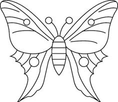 Simple Butterfly Drawing Coloring Page Pictures - Butterfly cartoon coloring pages Bordados Tambour, Tambour Embroidery, Embroidery Applique, Cross Stitch Embroidery, Embroidery Patterns, Butterfly Kids, Butterfly Quilt, Butterfly Drawing, Butterfly Pattern