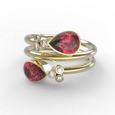 Bague Daisy - rubis, diamants et or jaune - #gold #ruby #diamond #ring #gemmyo #mygemmyo