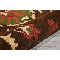 """Nourison Suzani SUZ02 Hand-tufted Area Rug - On Sale - Overstock - 7599401 - 2'3"""" x 8' Runner - Teal Tiny Living Rooms, Teal Rug, Area Rugs For Sale, Brown Furniture, Home Decor Trends, Online Home Decor Stores, Outdoor Rugs, Persian Rug, Oriental Rug"""