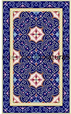 Alfombra azul | Miniature Rugs & Carpets