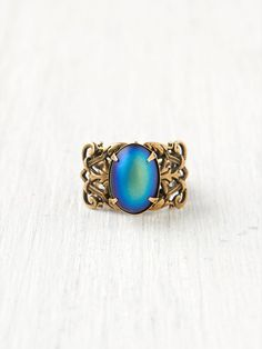 Free People Ornate Moonstone Ring, the opal is beautiful