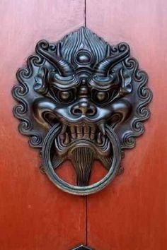 Chinese Black Dragon Door Knocker