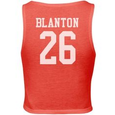 Custom crop tank top   If your boyfriend plays football, baseball, soccer or any other sports, show your support by wearing this top. You can customized by adding his name and number.