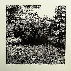 Zlatovská 2191-29 [Front]   [printmaking, cutting into MDF] #printmaking #woodcut #bunker #art #shelters