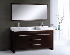 Alexa 60 inch Modern Double Bathroom Vanity Don't like the mirror- want separate medicine chests