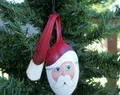 Handpainted Santa Spoon Ornament