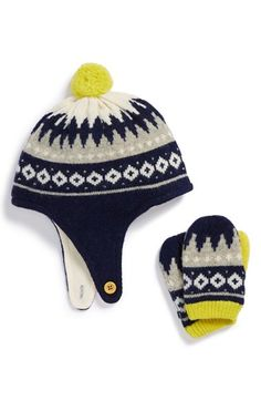 Mini Boden Wool Blend Hat & Mittens Set (Baby & Toddler) available at #Nordstrom