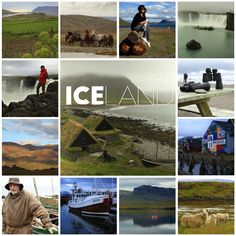 Iceland. Photo tiles mosaic. ANIA W PODRÓŻY travel blog and photography