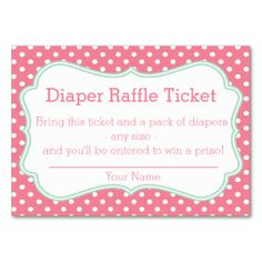 Diaper Raffle free template | Baby Shower | Pinterest | Diaper ...