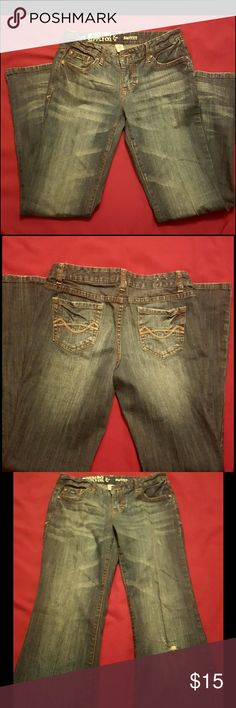 Mossimo Lightly Distressed Jeans Good Condition | Boot Cut Mossimo Supply Co. Jeans