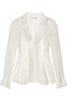 Oscar de la Renta Tiered silk-organza jacket   NET-A-PORTER