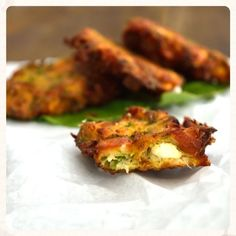 The Best Zucchini Fritters Zucchini Fritters, Baked Potato, Potatoes, Baking, Ethnic Recipes, Trust, Food, Skinny, Drink