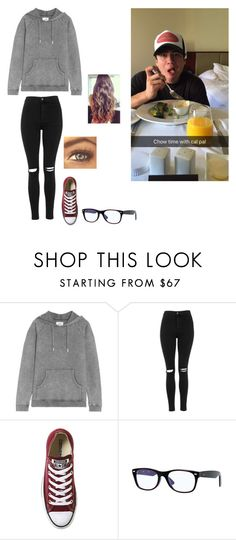 """""""Breakfast with Calum"""" by lukelover99 ❤ liked on Polyvore featuring Zoe Karssen, Topshop, Converse and Ray-Ban"""