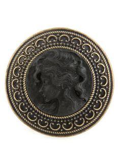 Make an Appearance (lulus.com, $12): Oh Cameo, Cameo Bronze and Black Ring
