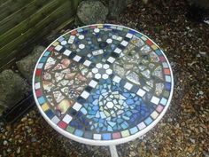 I made this last year with my sister she made one in her own design too I Have Done, Stepping Stones, Outdoor Decor, Design, Home Decor, Stair Risers, Decoration Home, Room Decor