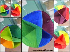 3-D Color Wheel Tutorial. I did this with my class several years back. I almost blew a brain gasket trying to understand the directions to get the folds right. Did turn out really well in the end.