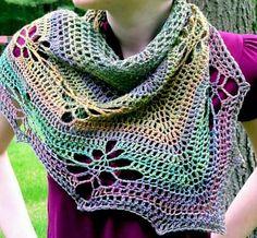 Jaali Crocheted Shawl Variations Pattern