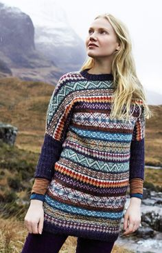 Heilen by Lisa Richardson from Rowan Magazine 56 (out July 15, 2014). Made in Rowan Felted Tweed.