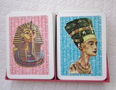 Vintage Playing Cards  Nefertiti and King Tut Boxed Set by AhmNutz, $9.00