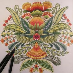 """""""Who says colouring is only for kids. Lost in the #TropicalWonderland of…"""