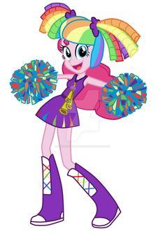 #1123095 - artist:luuandherdraws, cheerleader, equestria girls, obtrusive watermark, pinkie pie, rainbow falls, safe, simple background, solo, transparent background, vector - Derpibooru - My Little Pony: Friendship is Magic Imageboard