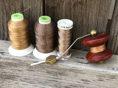 Handmade wooden fly tying bobbin spools Fly Tying Tools, Fly Tying Materials, Moving To Colorado, Marble Wood, Mahogany Color, Wooden Spools, Thread Spools, Fly Rods, Handmade Wooden