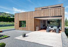 EFH im Kanton Aargau Wood Siding, Custom Wood, Tiny House, House Plans, Garage Doors, Kanton, Outdoor Decor, Home Decor, Houses
