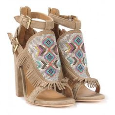 Ash OTTAWA Heeled Sandals Nuts Suede